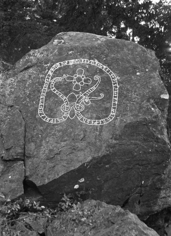 Runes written on berghäll. Date: V